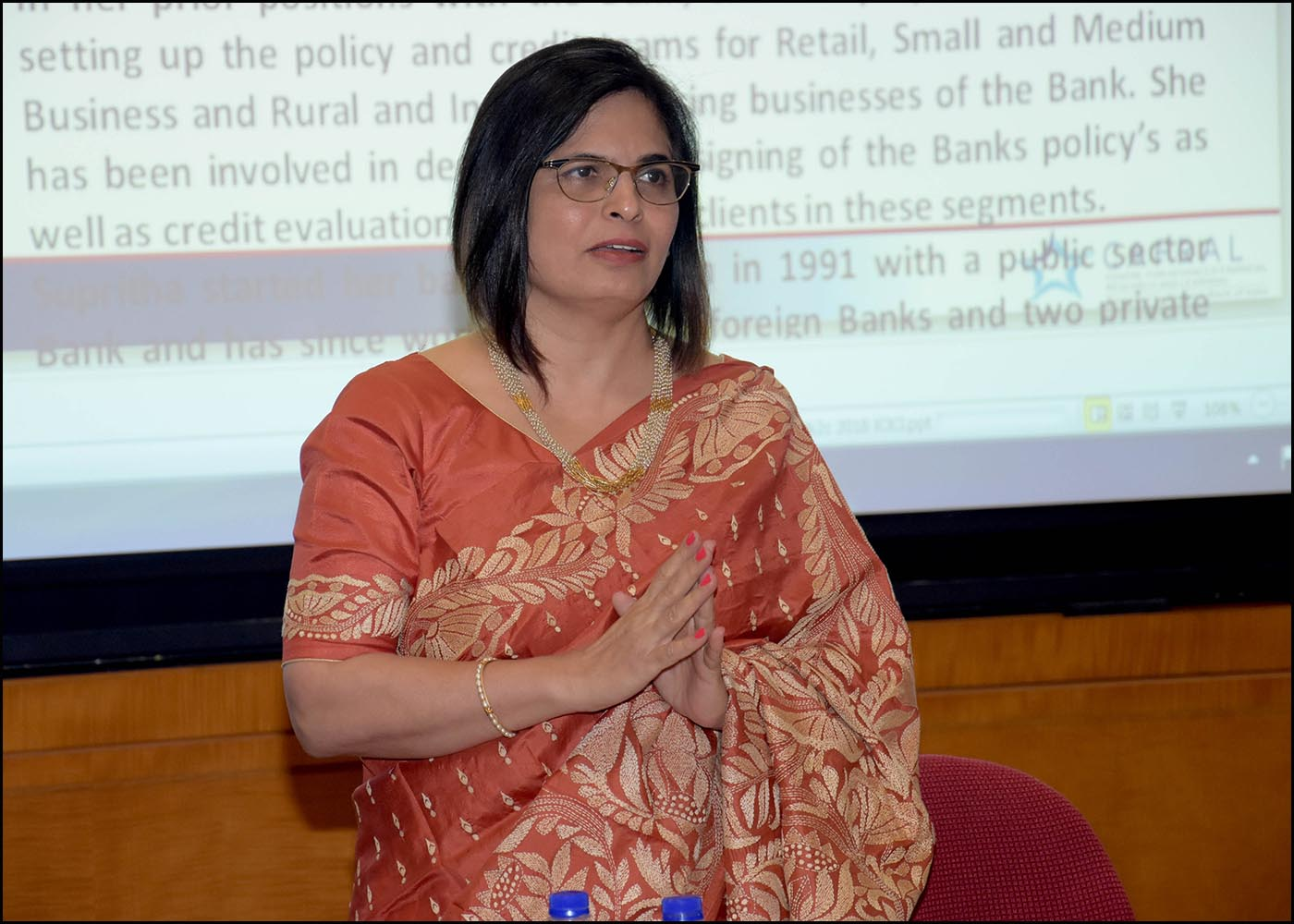 Smt. Supritha Shetty, Group Compliance Officer and Senior General Manager, ICICI Bank Ltd