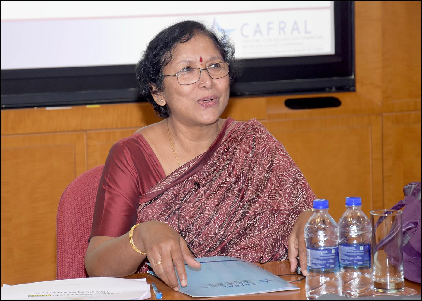 Smt. Parvathy V Sundaram, Chief General Manger-In-Charge Department of Banking Supervision, Central Office, Reserve Bank of India